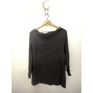 James Perse Dark Gray Stretchy Solid Sweatshirt